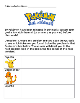 Pokemon Codes Scavenger Hunt Images