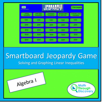 Algebra I Smartboard Q and A Game-Solving and Graphing Lin