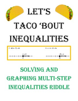 Solving and Graphing Multi-Step Inequalities - Taco Riddle