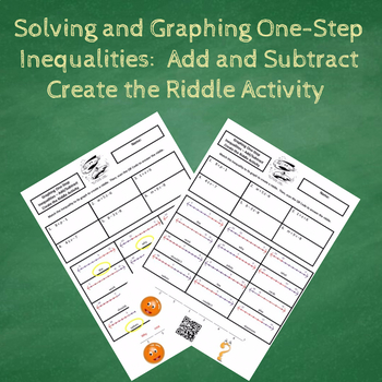 Solving and Graphing One-Step Add/Subtract Inequalities Create the Riddle