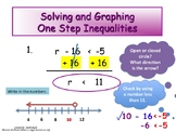 Solving and Graphing One Step Inequalities (Instructional PowerPoint & Assign.)