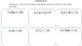 Solving and Graphing One-Step Inequalities (PowerPoint Lesson with Printables)