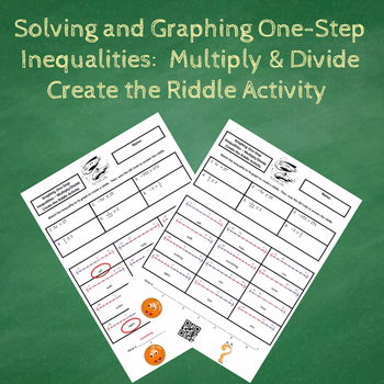 Solving and Graphing One-Step - Multiply/Divide Inequalities Create the Riddle