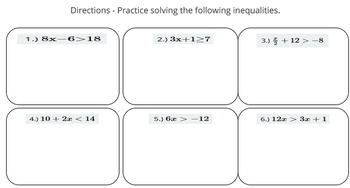 Solving and Graphing Two Step Inequaliies (PowerPoint Lesson & Printables!)
