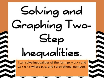 Solving and Graphing Two Step Inequalities Bundle