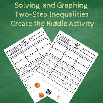 Solving and Graphing Two-Step Inequalities Create the Riddle Activity