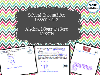 Solving and Modeling Linear Inequalities Lesson 2 of 2