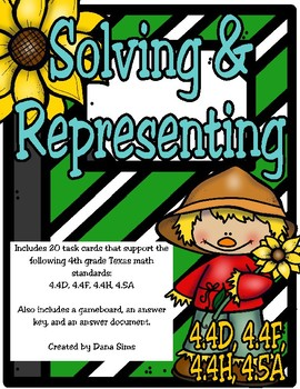 Solving and Representing (4th Grade TEKS 4.4D, 4.4F, 4.4H, 4.5A) STAAR Practice