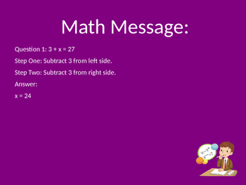Solving, balancing simple equations and inequalities