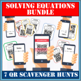 Solving equations MEGA PACK QR scavenger hunt