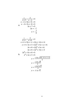 Solving equations with algebraic fractions