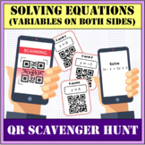 Solving equations with variables on both sides QR scavenger hunt
