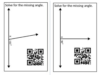 Solving for Angles Task Cards