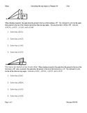 Solving for Angles in Triangles Word Problems With Pictures