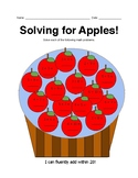 Solving for Apples! Math Facts