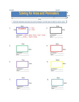 Solving for Area and Perimeters