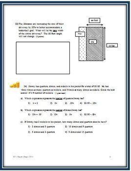 Solving for One Unknown: A Cumulative Algebra Test