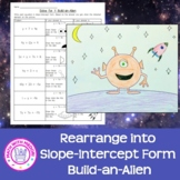 Solving for Y Slope-Intercept Build an Alien Drawing/Coloring