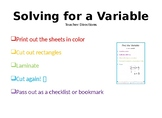 Solving for a Variable Bookmark