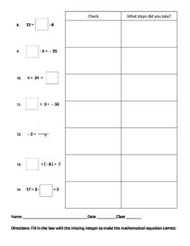 """Algebra 02 - Solving for the """"Missing Value"""""""