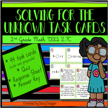Solving for the Unknown Task Cards