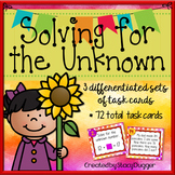 Solving for the Unknown with Addition and Subtraction Differentiated Task Cards