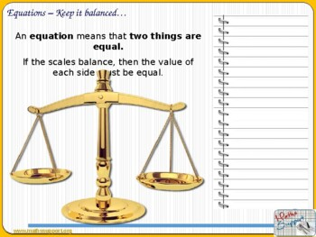 Solving linear equations by balancing