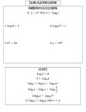 Solving log equations inb