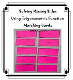 Solving missing sides using trigonometric function Matching Cards