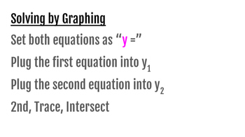 Solving nonlinear systems by Graphing, Substitution, and Elimination