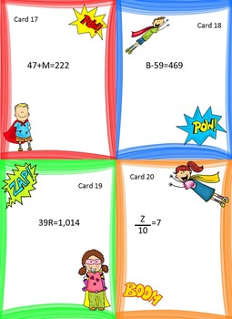 Solving One Step Equations: Graphic Organizer-Foldable with Task Cards