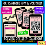 Solving one-step equations QR scavenger hunt