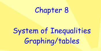 Solving systems by graphs and tables