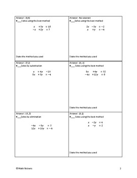 Solving systems of Linear equations -Circuit Training