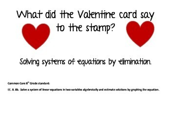 Solving systems of equations by eliminations