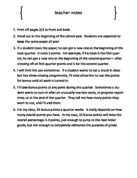 Solving the Bonus Points Problem...and a few others.