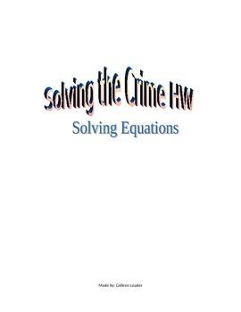 Solving the Crime HW