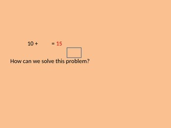 Solving the Missing Number PowerPoint