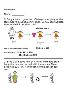 Solving two step addition and subtraction word problems.
