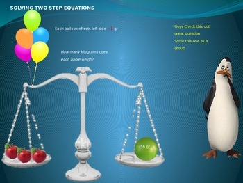 Solving two step equation (common core standards)