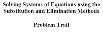 Solving using the Substitution and Elimination Methods - P