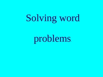 Solving word problems using efficient written methods.