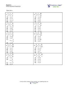 SolvingEquationsAndInequalities
