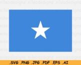 Somalia National Flag, Somali Country Banner Cricut Print SVG EPS AI PNG JPG PDF