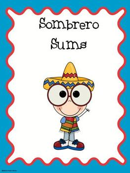 Sombrero Sums Math Center (double digit addition)