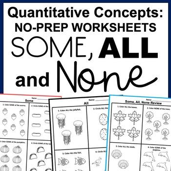 Some, All, None- Quantitative Concepts ABLLS-R Tasks R11, R12, R13