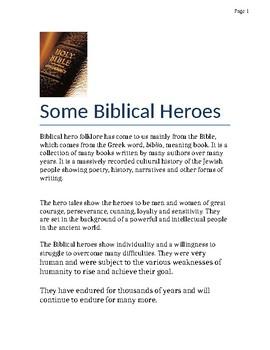 Some Biblical Heroes