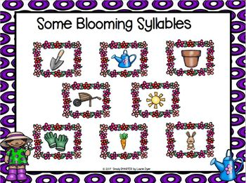Some Blooming Syllables:  NO PREP Garden Themed Grab and Cover Game
