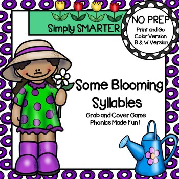 Some Blooming Syllables:  NO PREP Garden Themed Grab and C