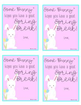 """Some """"Bunny"""" Gift Tag"""